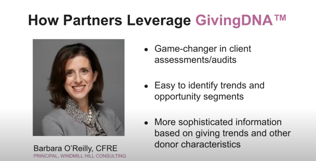 How Fundraising Consultants are Leveraging GivingDNA